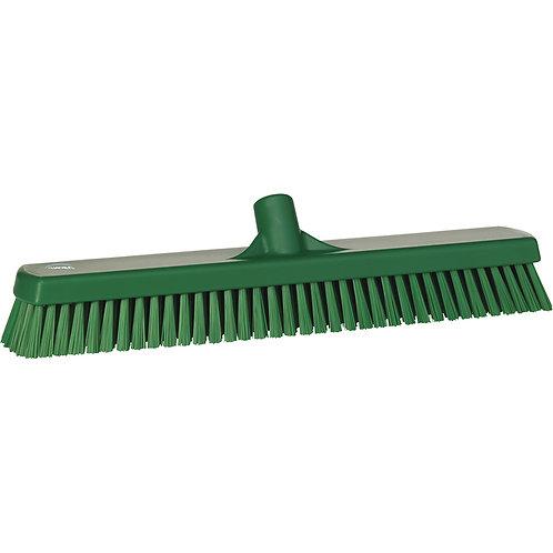 """Vikan 2.5""""x18.5"""" Green Deck Scrub - Stiff Bristled"""