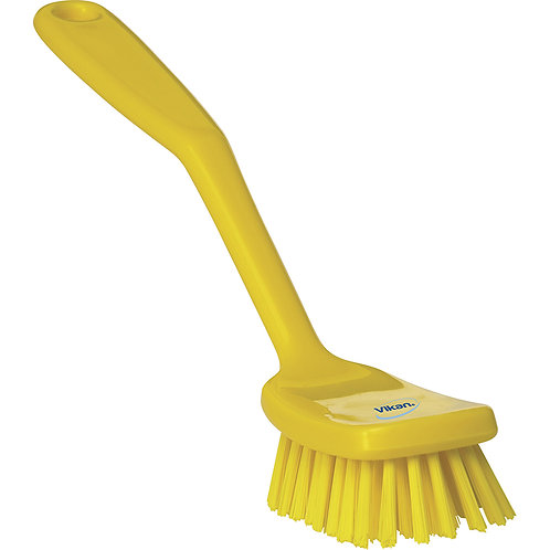 Vikan Yellow Small Utility Brush - Stiff
