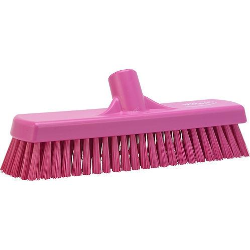 """Vikan 3""""x12"""" Pink Deck Scrub - Stiff Bristled"""