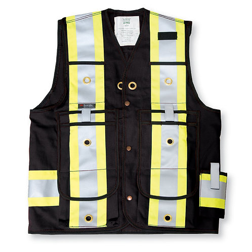 600 Denier Poly Surveyor Safety Vest
