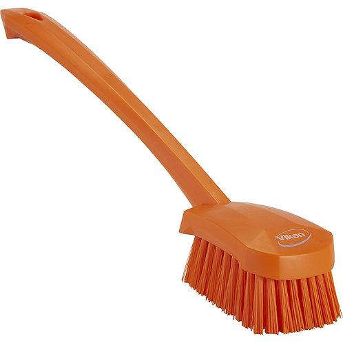 Vikan Orange Long Handle Brush - Stiff