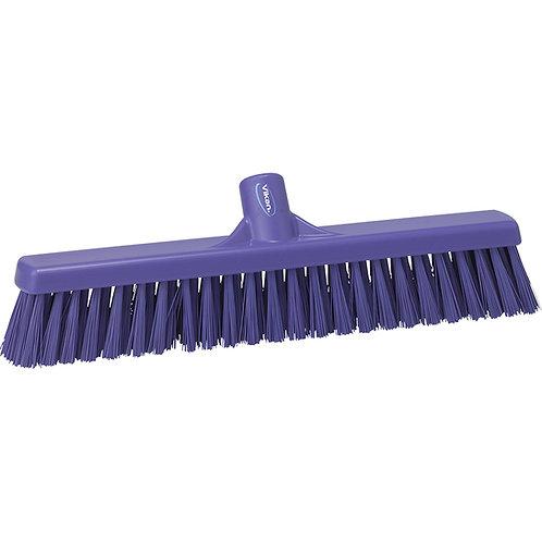 """Vikan 2""""x16"""" Purple Broom - Medium Bristled"""