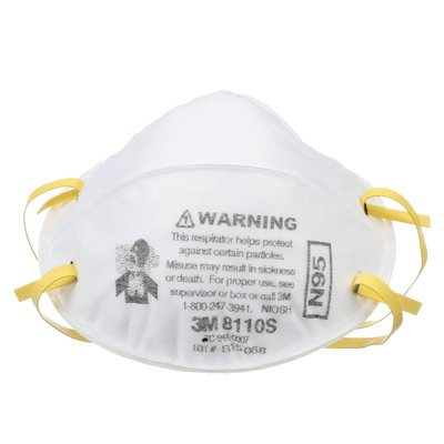 3M 8110S N95 Disposable Particulate Respirator