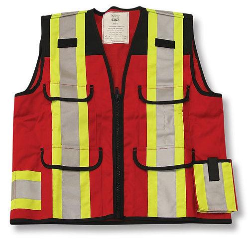 600 Denier Red/Black Surveyor Vest