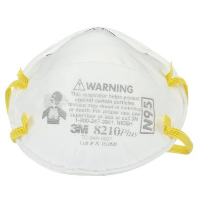 3M 8210+ N95 Disposable Particulate Respirator