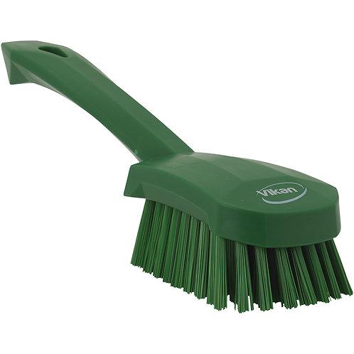 Vikan Green Short Handle Brush - Stiff