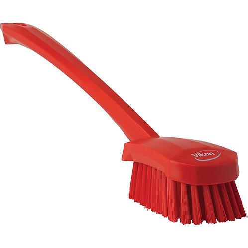 Vikan Red Long Handle Brush - Soft