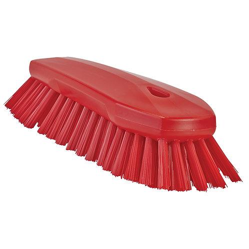 Vikan Red Hand Scrub Brush - Angled, Stiff