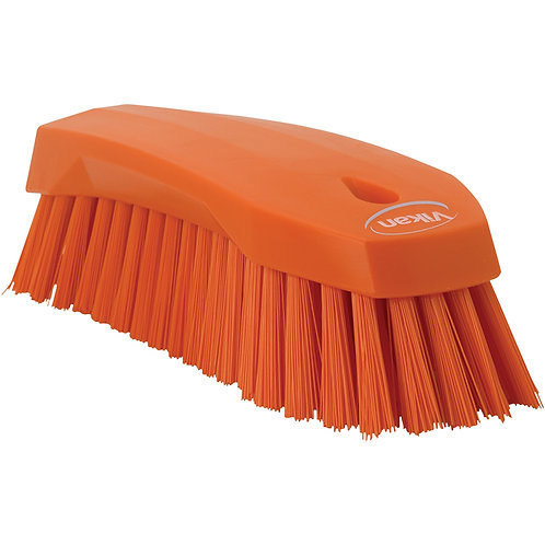 Vikan Orange Hand Scrub Brush - Stiff