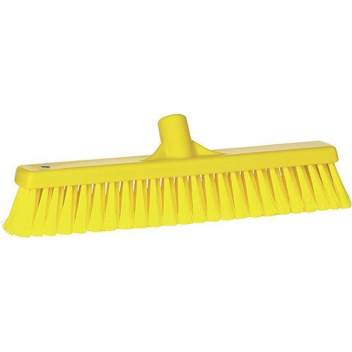 "Vikan 2""x16"" Yellow Broom - Soft Bristled"