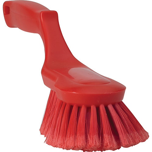 Vikan Red Ergonomic Hand Brush- Flagged