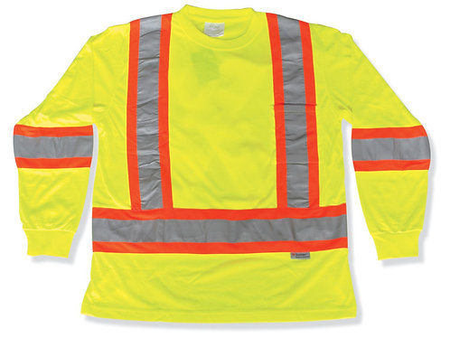 Lime Green 100% Polyester Traffic Safety Shirt