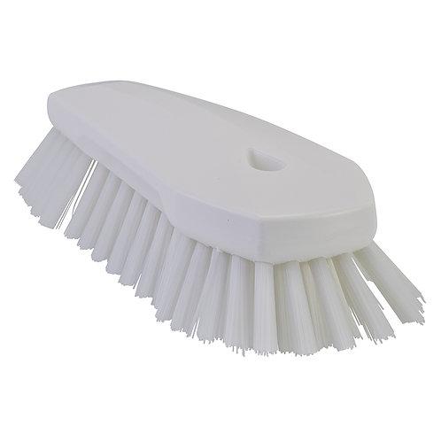 Vikan White Hand Scrub Brush - Angled, Stiff