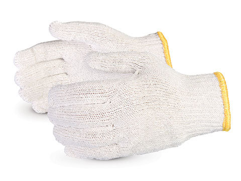 Sure Knit™ Economy Bleach White, Poly/Cotton String Knit Gloves
