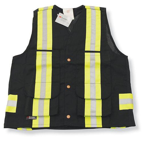 Cotton Supervisor Safety Vest with Polyester Full Mesh Back