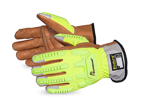 Endura® Hi-Viz Cut-Resistant Goatskin Anti-Impact Drivers Kevlar® with Oilbloc™