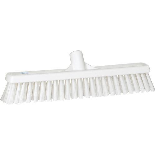 """Vikan 2""""x16"""" White Broom - Soft/Hard Bristled"""