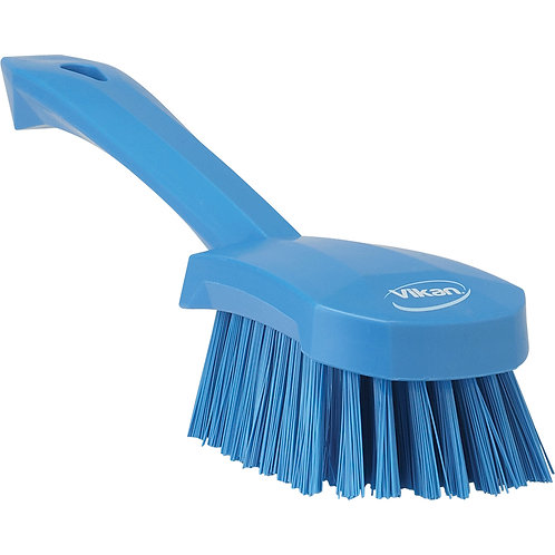 Vikan Blue Short Handle Brush - Stiff