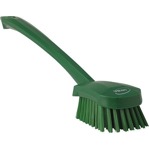 Vikan Green Long Handle Brush - Stiff