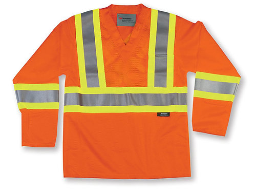 Orange Hi-Visibility Mesh Safety Shirt
