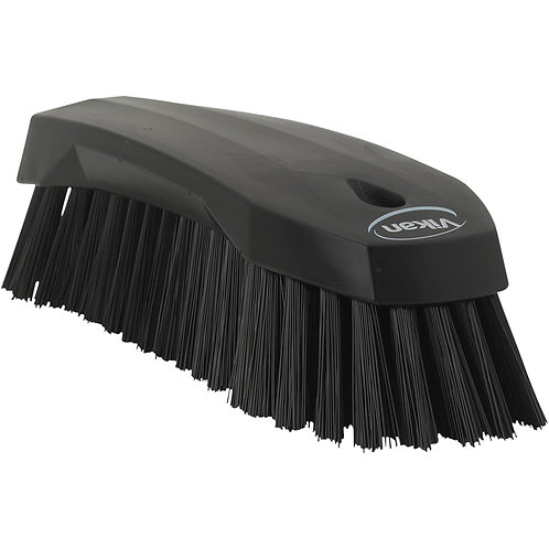 Vikan Black Hand Scrub Brush - Stiff
