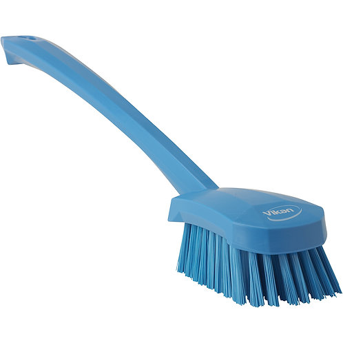 Vikan Blue Long Handle Brush - Soft