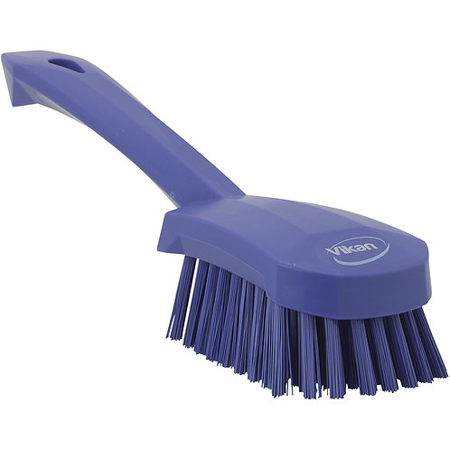 Vikan Purple Short Handle Brush - Stiff