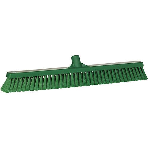 """Vikan 2""""x24"""" Green Broom - Soft Bristled"""