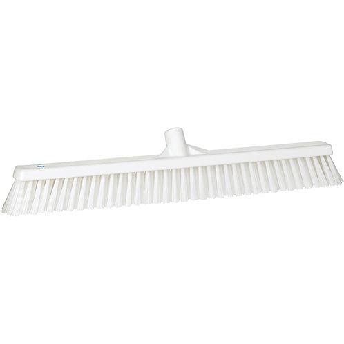 """Vikan 2""""x24"""" White Broom - Soft/Stiff Bristled"""