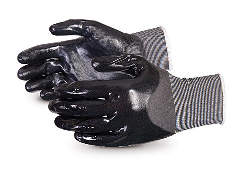 Dexterity® Seamless Nylon Glove with Full Back and Palm Nitrile Coating