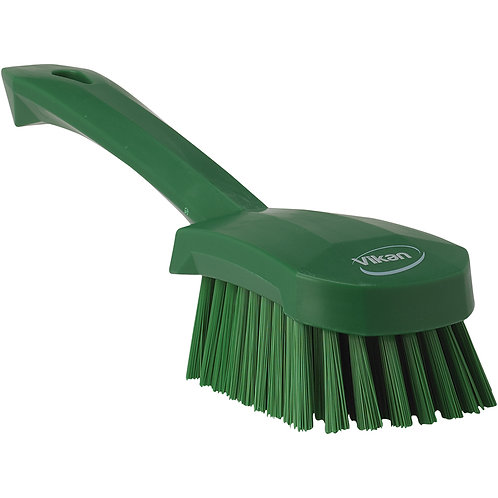 Vikan Green Short Handle Brush - Soft