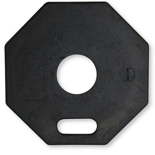 11 lb Black Rubber Octagon Delineator Base