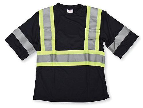 Poly Wicking Black T-Shirt