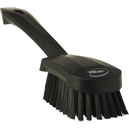 Vikan Black Short Handle Brush - Stiff