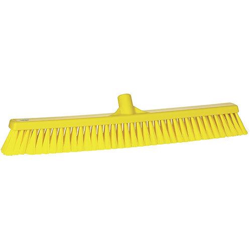 "Vikan 2""x24"" Yellow Broom - Soft Bristled"