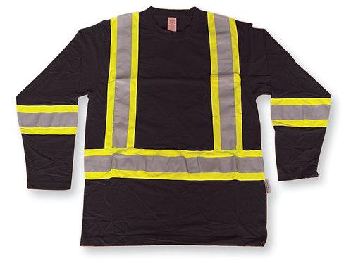 Black 100% Cotton Traffic Safety Shirt