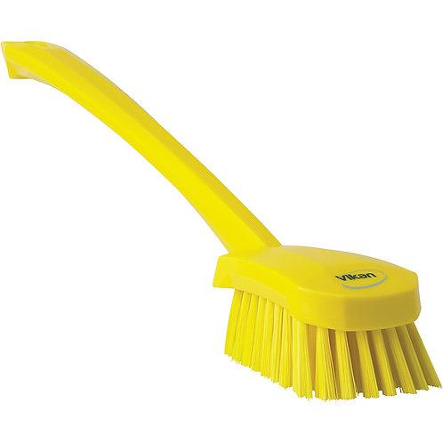 Vikan Yellow Long Handle Brush - Soft
