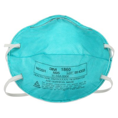 3M 1860 N95 Disposable Particulate Respirator