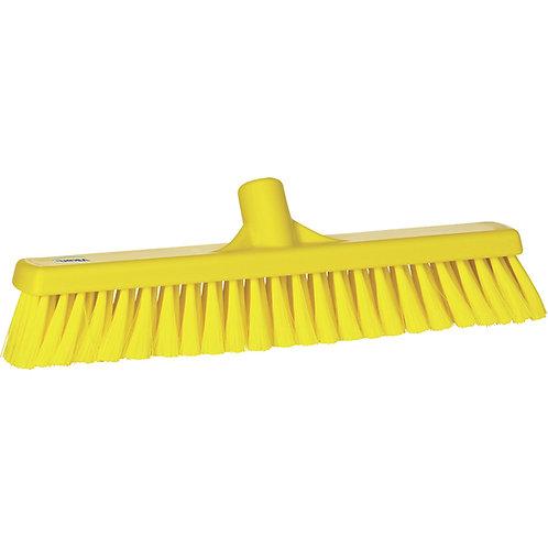 """Vikan 2""""x16"""" Yellow Broom - Medium Bristled"""