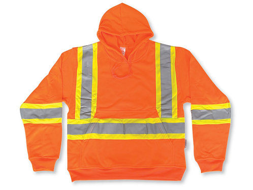 Orange 100% Polyester Hoodie
