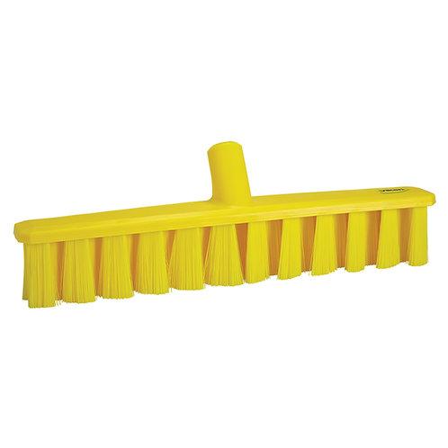 "Vikan 16"" Yellow UST Broom - Medium Bristled"