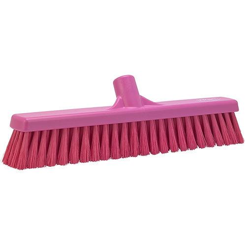 "Vikan 2""x16"" Pink Broom - Medium Bristled"