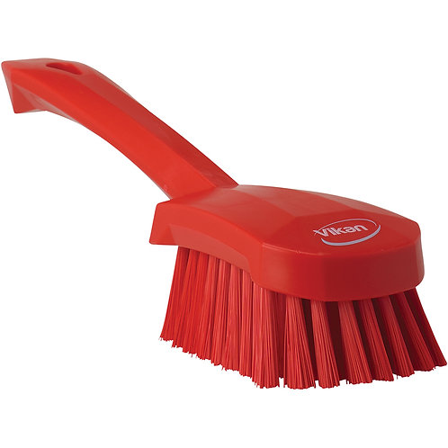 Vikan Red Short Handle Brush - Soft