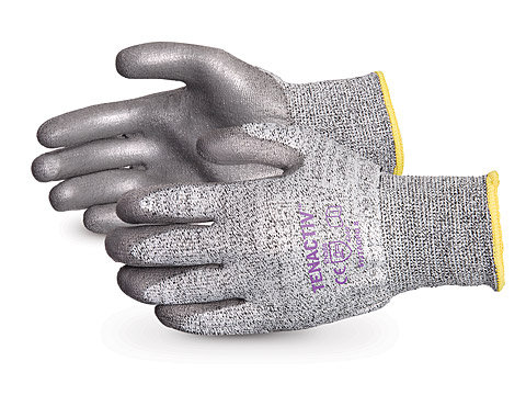 TenActiv™ Composite Knit Cut-Resistant Gloves with Grey PU-Coated Palms
