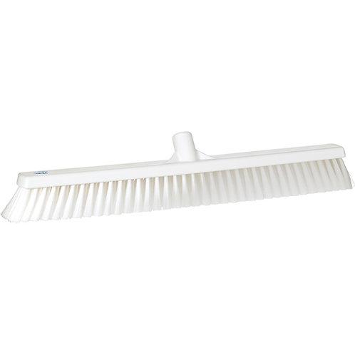 """Vikan 2""""x24"""" White Broom - Soft Bristled"""