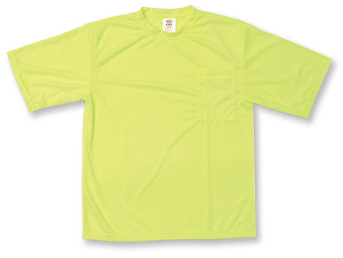 Lime Green 100% Polyester T-Shirt