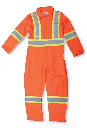 Hi Vis Orange Traffic Safety Coverall