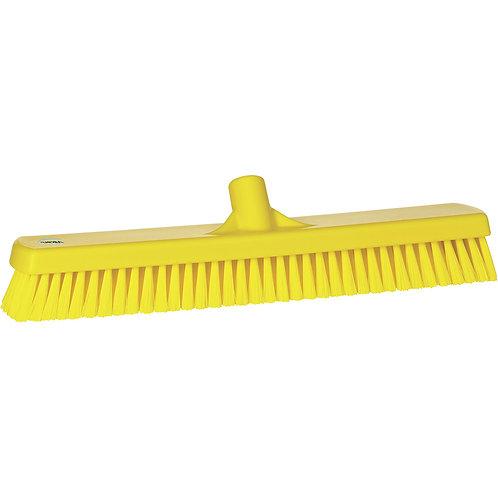 """Vikan 2.5""""x18.5"""" Yellow Deck Scrub - Stiff Bristled"""