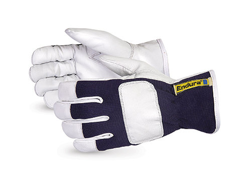 Endura® Goat-Grain Leather Drivers with Tipped Fingers and Knuckle Strap