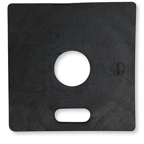 11 lb Black Rubber Square Delineator Base